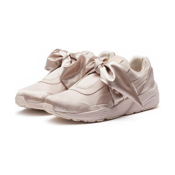 FENTY PUMA by Rihanna Trinomic Bandana Satin Sneakers in pink - Fenty Puma by Rihanna satin sneakers with bow at front....