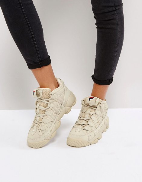 Fila Spaghetti Sneakers In  Cream in cream - Sneakers by Fila, Leather panelled upper, Lace-up...