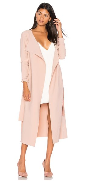 Finders Keepers Chances Coat in pink - 95% poly 5% elastane. Hand wash cold. Waist tie detail....
