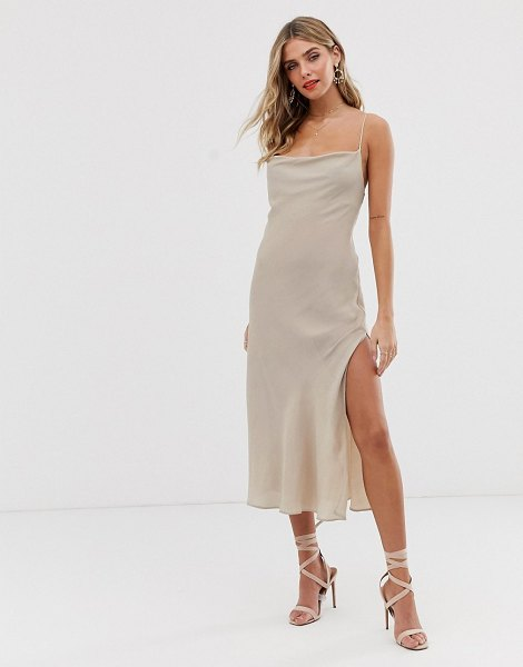 Finders Keepers eve dress in nude