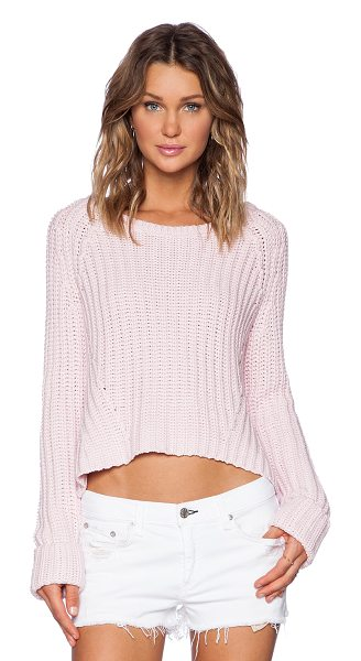 Finders Keepers Forever knit in pink - 60% cotton 40% acrylic. Side seam slits. FIND-WK5....