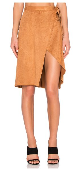 Finders Keepers High Time Skirt in tan - Self: 100% polyLining: 97% poly 3% elastan. Hand wash...