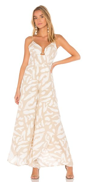 "Finders Keepers Mercurial Jumpsuit in beige - ""Self & Lining: 100% poly. Adjustable shoulder straps...."