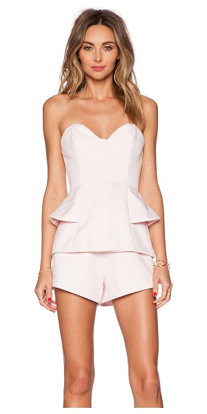 Finders Keepers Take a shot playsuit in pink - Main: 97% poly 3% elastaneLining: 100% poly. Back...