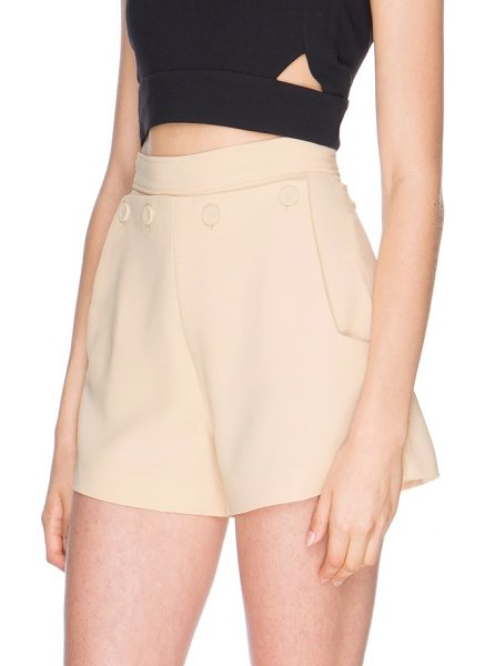 Finders Keepers triumph shorts in shell - These high-rise shorts have a prim and polished feel...