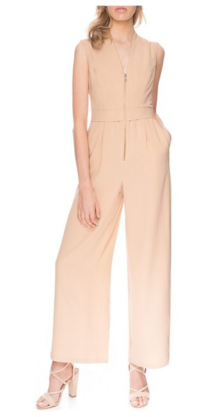 Finders Keepers wild world jumpsuit in biscuit - Curved princess seams at the bodice, a slight stand...