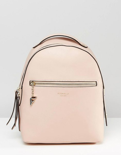Fiorelli Anouk simple backpack with zip pocket detail in anouk petal pink