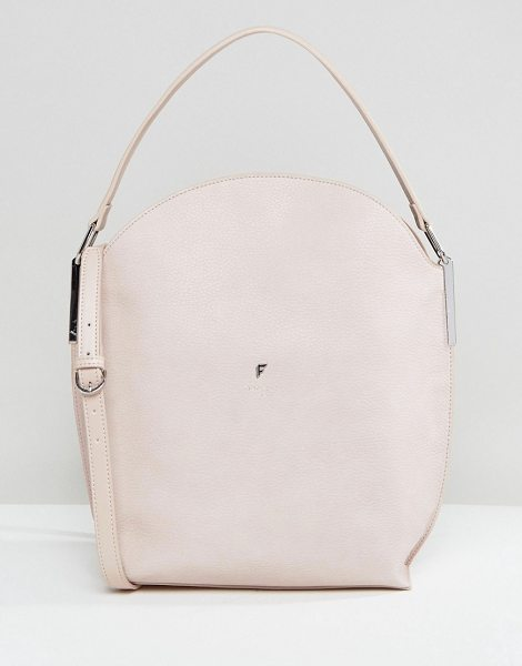 "Fiorelli Hobo Slouch Cross Body Bag in Blush in pink - """"Cart by Fiorelli, Textured faux leather, Branded..."