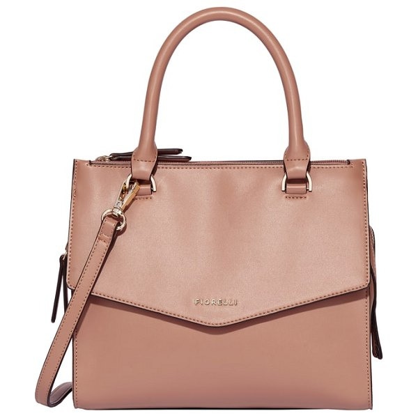 Fiorelli mia faux leather satchel in brown - This structured satchel is a versatile go-to, with...