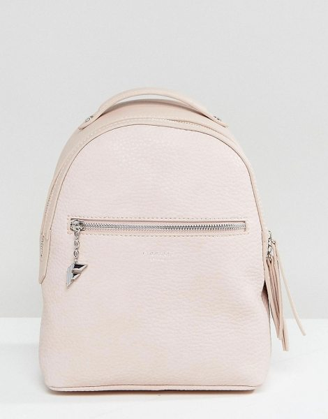 Fiorelli Mini Anouk Blush Rose Tumbled Backpack in pink - Backpack by Fiorelli, Textured faux-leather, Printed...