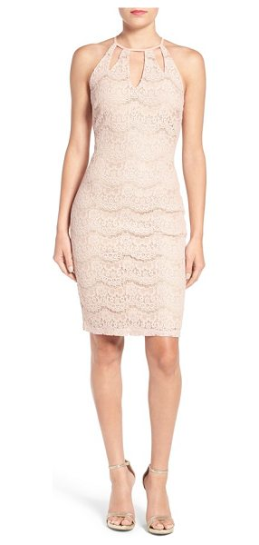 Fire love in blush - Floral lace in a pretty, wavy pattern adds a...