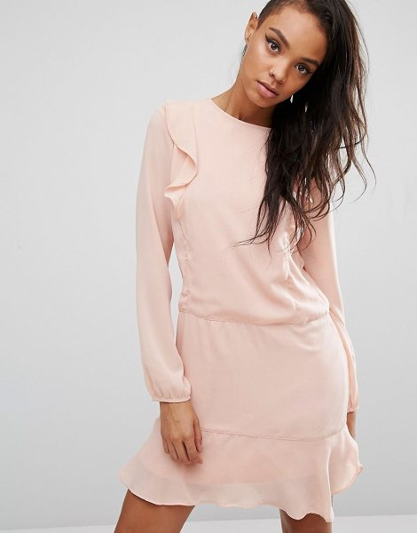 """FIRST & I Ruffle Front Dress - """"""""Dress by First I, Woven fabric, Round neckline, Ruffle..."""