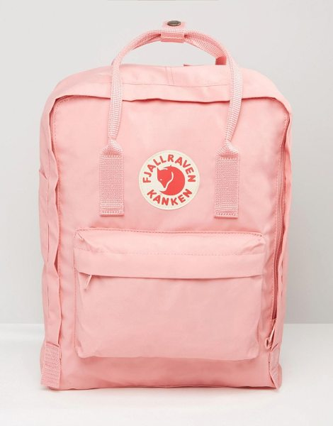 Fjallraven Classic Kanken Backpack In Pastel Pink in pink - Backpack by Fjallraven, Fabric outer, Grab handles,...