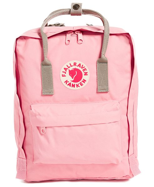 Fjallraven kanken backpack in fog/pink - A sturdy Fjällräven backpack, detailed with a reflective...