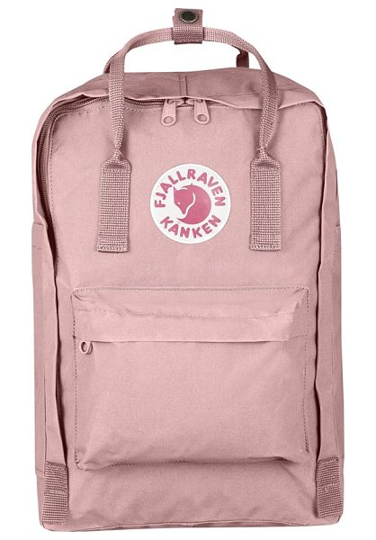Fjallraven 'kanken' laptop backpack in pink - Moisture-repelling Vinylon F fabric shapes a slim and...