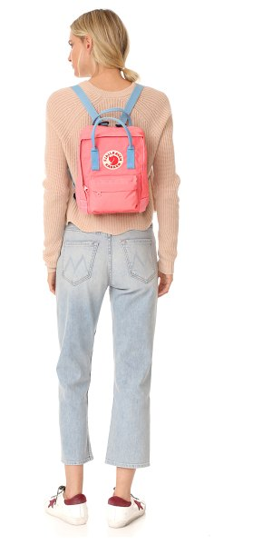 Fjallraven kanken mini backpack in pink/air blue - A sturdy Fjällräven backpack, detailed with a logo patch...