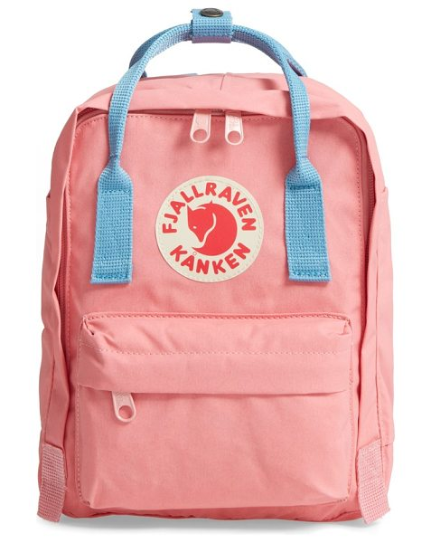 Fjallraven 'mini kanken' water resistant backpack in pink/ air blue
