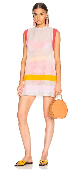 FLAGPOLE Jane Tunic Top in orange,pink,white - Self: 83% cotton 17% polyamide - Contrast Fabric: 72%...