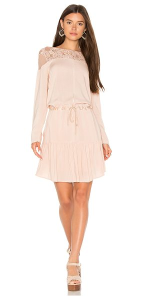 Flannel Heirloom Shift Dress in blush - Self & Lining: 100% rayonTrim: 100% silkLace: 100%...