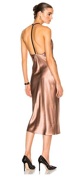 FLEUR DU MAL Cowl Neck Bias Slip Dress - 100% silk. Made in China. Dry clean only. Unlined....