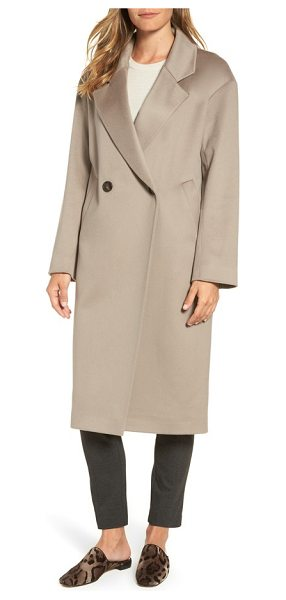 Fleurette 45 loro piana wool coat in taupe - Crafted with an impeccably tailored fit from luxurious...