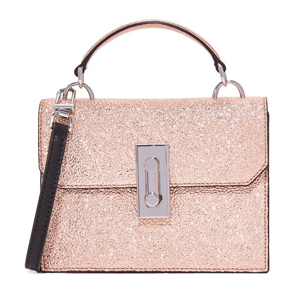 FLYNN bertie cross body bag in rose - A petite Flynn cross-body bag in eye-catching metallic...
