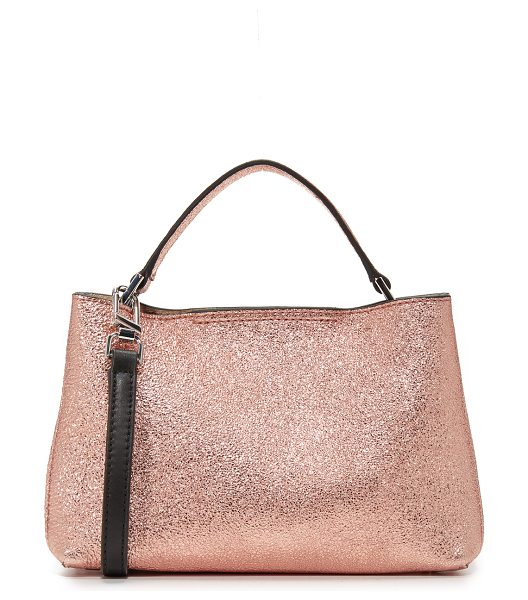 FLYNN oscar cross body bag in rose - A petite Flynn cross-body bag in eye-catching metallic...