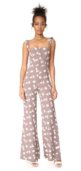 Flynn Skye bardot jumper in stone bunches - This floral Flynn Skye jumpsuit has a tailored bodice...