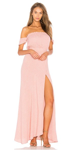 """Flynn Skye Bella Maxi in pink - """"Poly blend. Hand wash cold. Unlined. Elasticized..."""