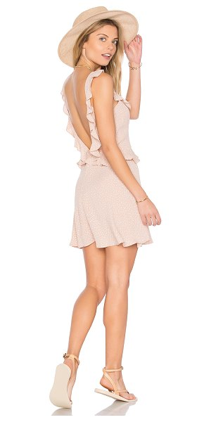 FLYNN SKYE Mimi Dress - Poly blend. Hand wash cold. Unlined. Ruffle trim....