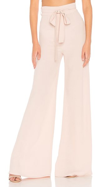 """Flynn Skye Penelope Pant in blush - """"100% rayon. Dry clean only. Belted waist tie. Hidden..."""