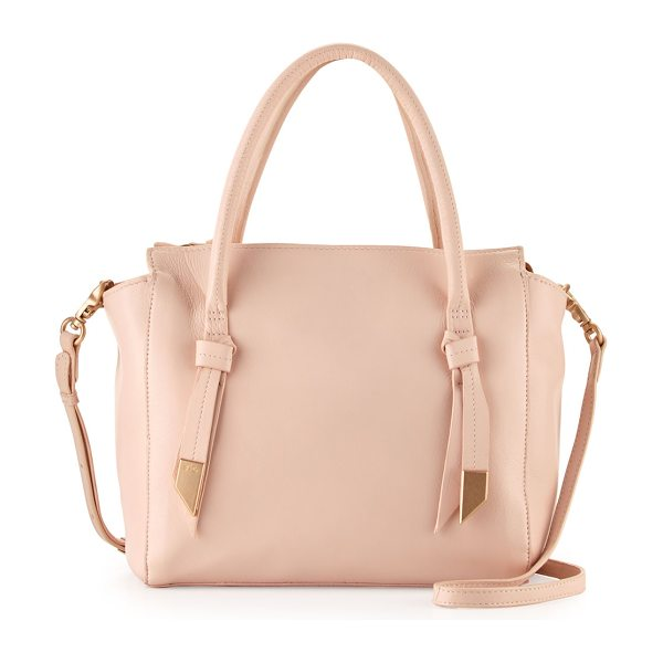 Foley + Corinna Trillion leather satchel bag in blush - Foley + Corinna pebbled leather satchel bag. Rolled top...