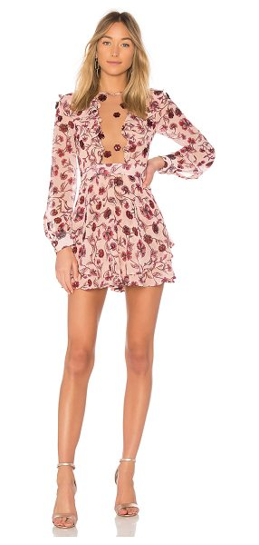 For Love & Lemons Agnes Mini Dress in rose