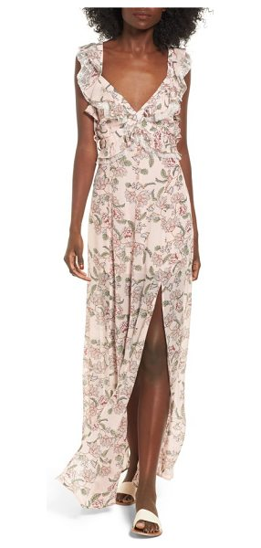 For Love & Lemons bee balm floral maxi dress in pink floral - A lovely garden lunch beneath a branch canopy calls for...