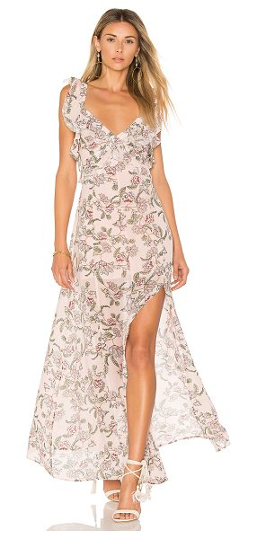 For Love & Lemons Bee Balm Floral Maxi Dress in pink - As sweet as honey and as delicate as a flower. With a...