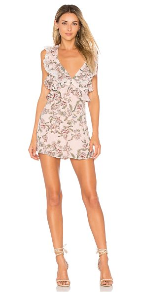 "For Love & Lemons Bee Balm Floral Romper in pink - ""On the highway to loving life. Wrapped in florals, the..."