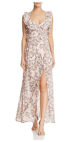 For Love & Lemons Bee Balm Ruffled Maxi Dress in pink floral - For Love & Lemons Bee Balm Ruffled Maxi Dress-Women
