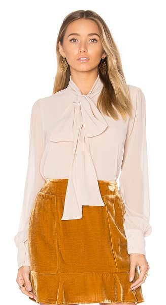 For Love & Lemons Belle Blouse in blush - 100% poly. Dry clean only. Front button closure. Neck...