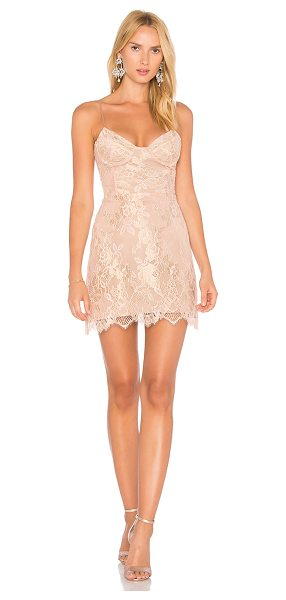 For Love & Lemons Bumble Bustier Dress in rose - Nylon blend. Dry clean only. Fully lined. Adjustable...