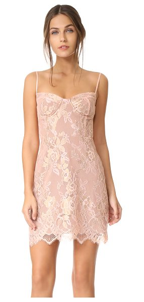 For Love & Lemons bumble bustier dress in rosegold - Metallic threads highlight the floral pattern on this...