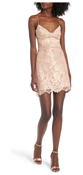 For Love & Lemons bumble bustier slipdress in rose gold