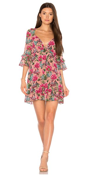 For Love & Lemons Churro Mini Dress in pink - Overdose on sweet. Rendered in a lightweight fabric with...