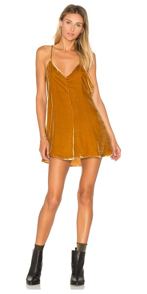 "For Love & Lemons Collette Tank Dress in tan - ""Self: 70% rayon 30% silkLining: 97% poly 3% spandex...."
