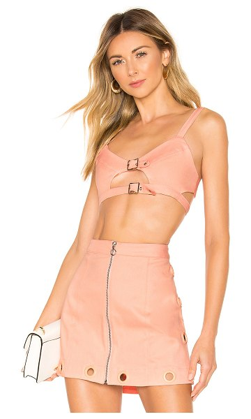 For Love & Lemons creme puff bra top in cotton candy
