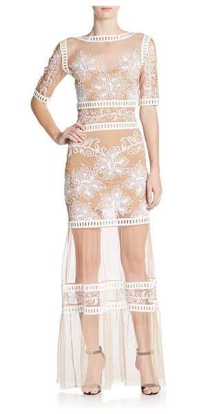 FOR LOVE & LEMONS Desert nights embroidered mesh maxi dress - Mesh maxi with stunning floral embroideryAllover...
