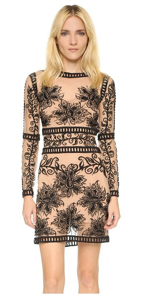 FOR LOVE & LEMONS Desert nights mini dress - Contrast floral embroidery and lattice trim cover this...