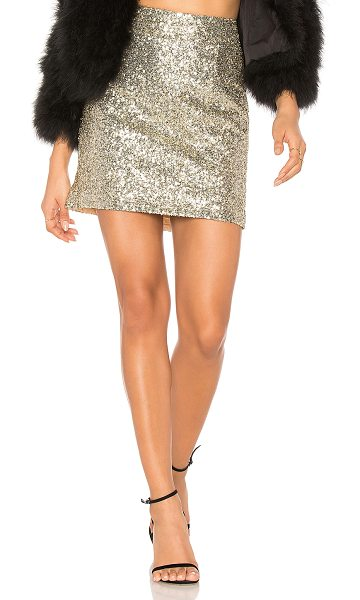 "FOR LOVE & LEMONS Eloise Sequin Mini Skirt - ""Self & Lining: 100% poly. Dry clean only. Fully lined...."