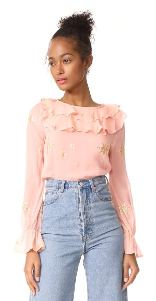 FOR LOVE & LEMONS gilded star blouse - Shimmering lamé stars lend a playful touch to this...