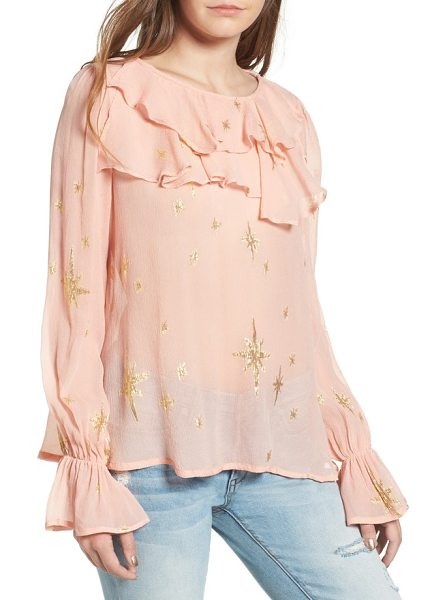 For Love & Lemons gilded star blouse in rose gold - Channel feminine romance in this pretty top featuring a...