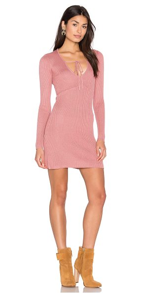 For Love & Lemons KNITZ Delancey Dress in vintage rose - 70% lyocell 20% cotton 10% silk. Dry clean only....